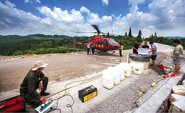 直升机助力湘西绿色防控