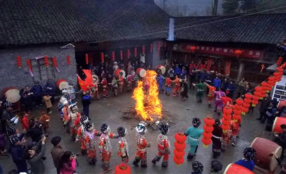"""苗族群众欢庆""""腊八节"""""""